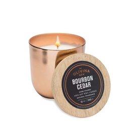 Olivina 12 oz. Copper Bourbon/Cedar Candle