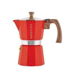 Grosche Milano- Red Stove Top Espresso Maker
