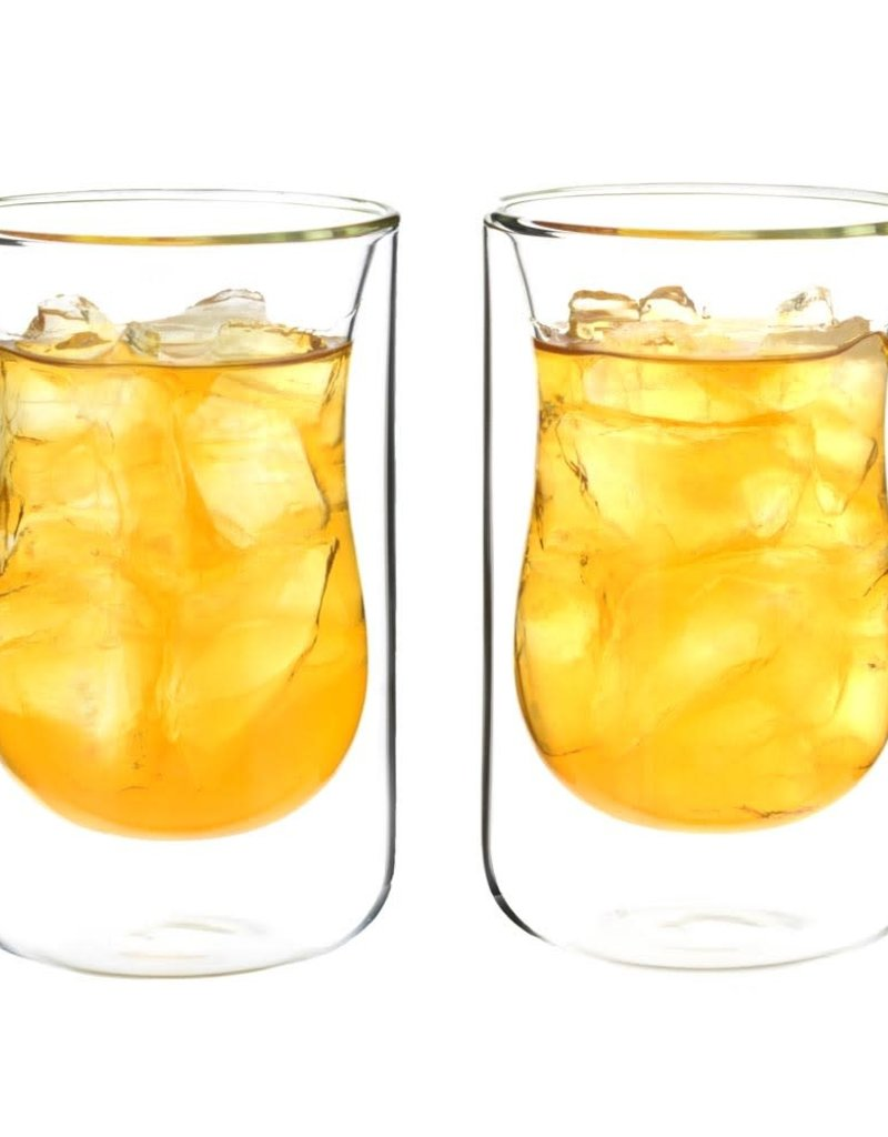 Grosche Instanbul Double Walled Glass Cups - Set of 2