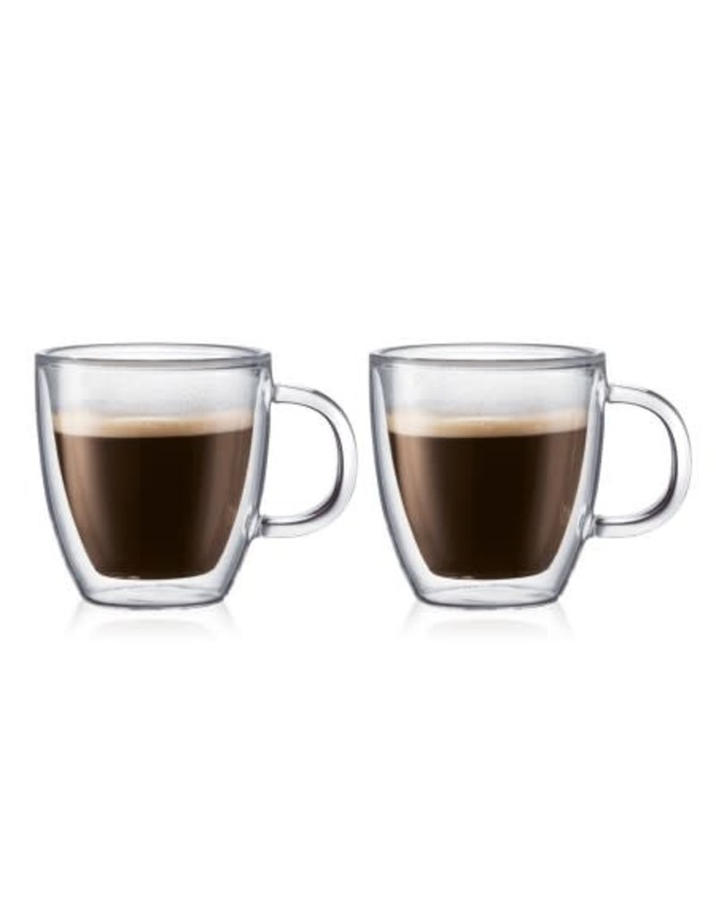 Bodum Bodum Bistro Double Wall Thermo Glass Mugs 5fl.oz