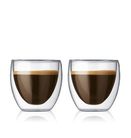 Bodum Bodum Pavina Double Wall Thermo Glass Mugs 2.5fl.oz