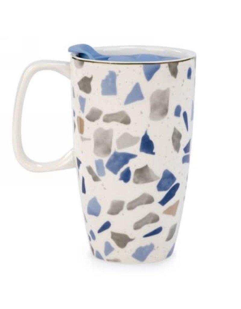 Travel Mug - Blue and Grey