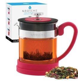 Grosche Valencia Tea Infuser Teapot Pink