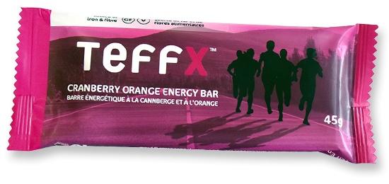 TeffEnergy TeffX Energy Bar - Cranberry Orange