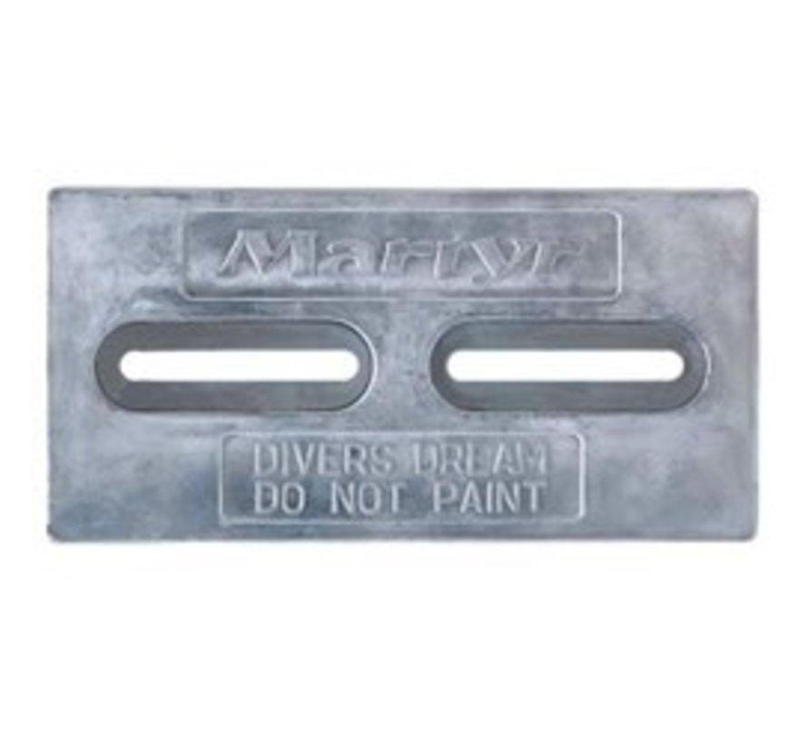 Anode-DvrsDrm 2x4x6w/slot-Zinc