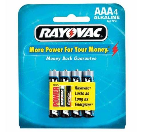 SPECTRUM BRANDS/RAYOVAC Batt-Alkaline AAA Cell (4)