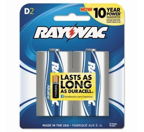 SPECTRUM BRANDS/RAYOVAC Alkaline Battery-D (2)