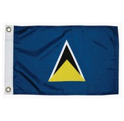 "Taylor Made Products St Lucia Courtesy Flag, 12"" x 18"""