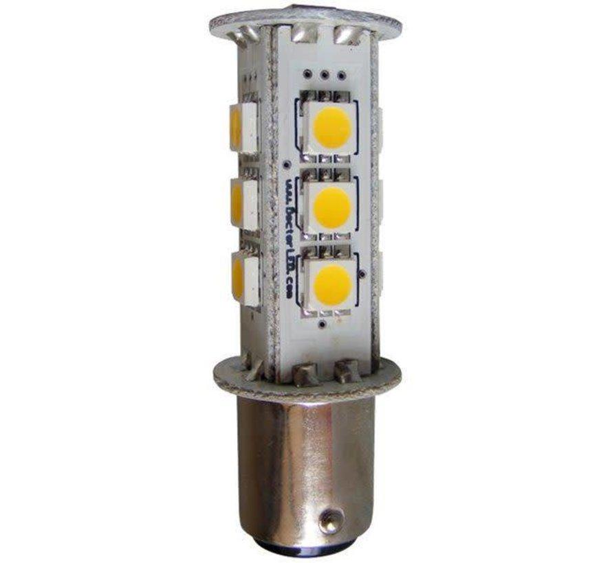 Bulb-Sgl Bay LED BA15S Wh 12V