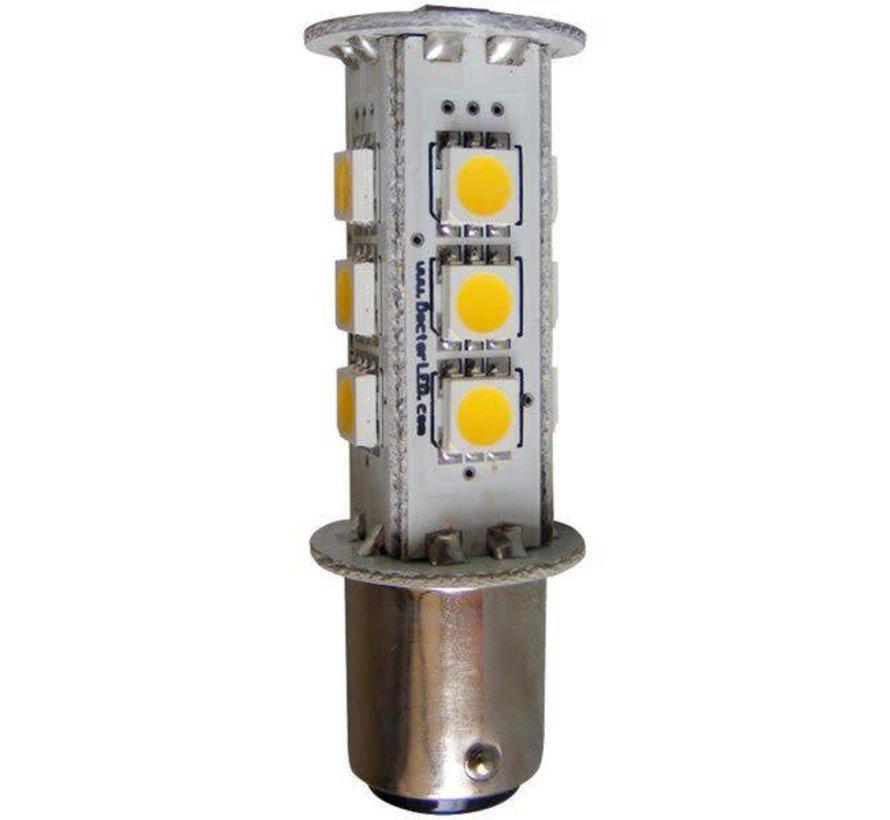 Bulb-Dbl Bay LED BA15D Rd 12V