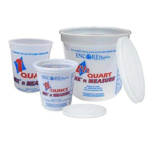 ENCORE PLASTICS Bucket-Mix&Measure 2-1/2Qt