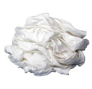 BUFFALO INDUSTRIAL PRODUCTS Rags-T-Shirt White 20lb Box single