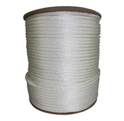 "Miami Cordage Line-White Solid Braid Nylon #8 (1/4"") 1000' RL single"