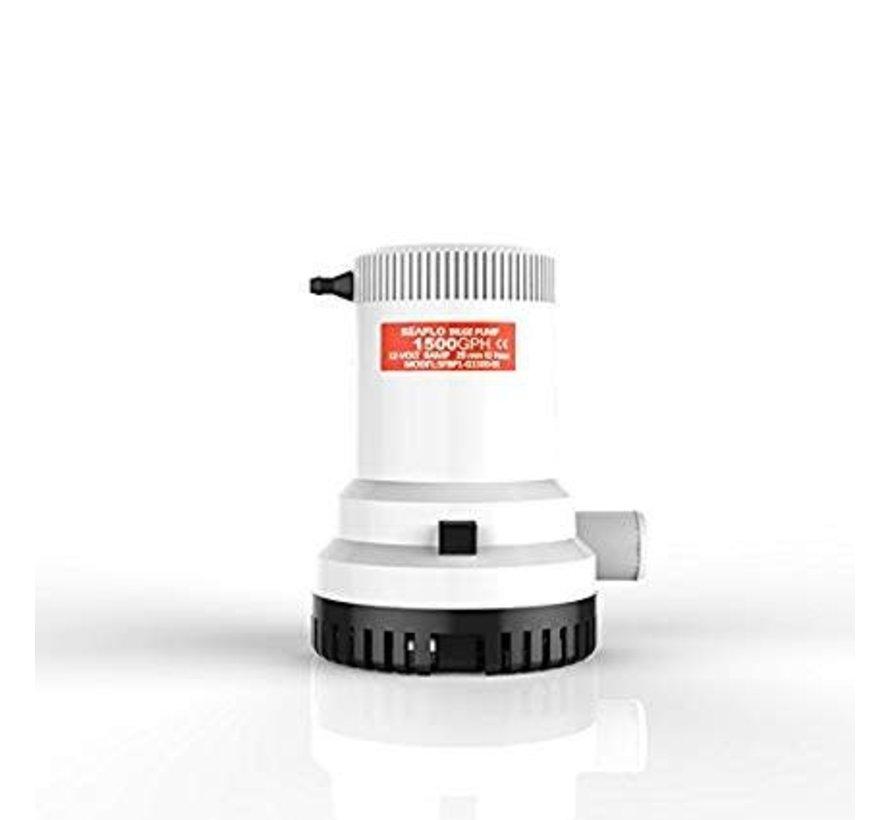 12V 1500 GPH Submersible Non Auto Bilge Pump