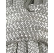 "Miami Cordage Line - ""Probraid"" 1/4"" White Solid (Polyester Yacht Braid) Single"
