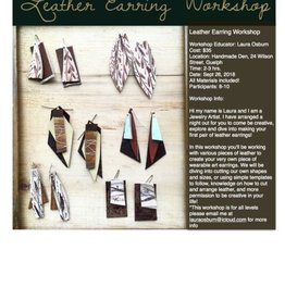 The Handmade Den Leather Earring Class