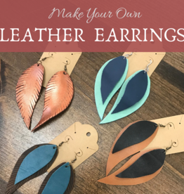 Class Leather Earrings - April 27th  @ 5:00 pm