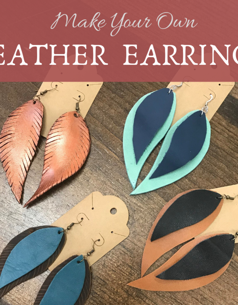 Class Leather Earrings - May 4th  @ 11 am