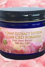 Lotion, 2 oz., 500 mg CBD, Rose