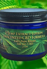 Lotion, 2 oz., 500 mg CBD,  Unscented