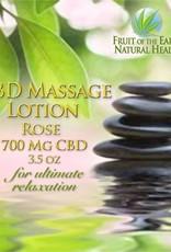 Rose CBD Massage Lotion