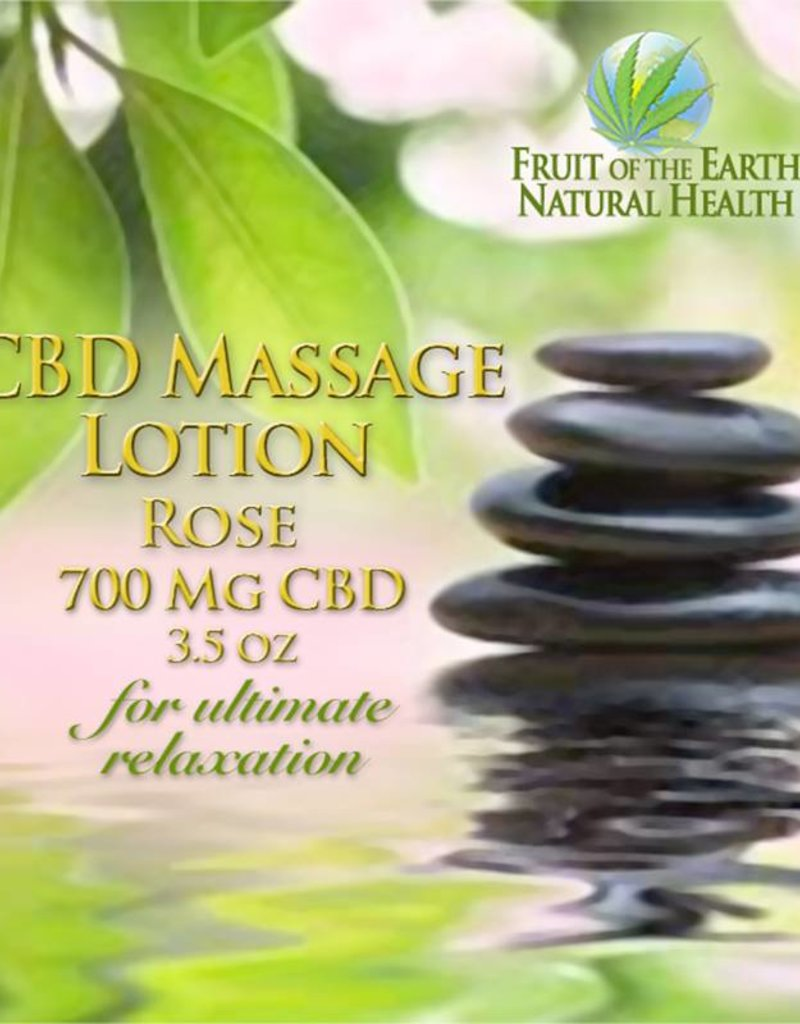 CBD Massage Lotion, 700 mg CBD, 3.5 oz., Rose