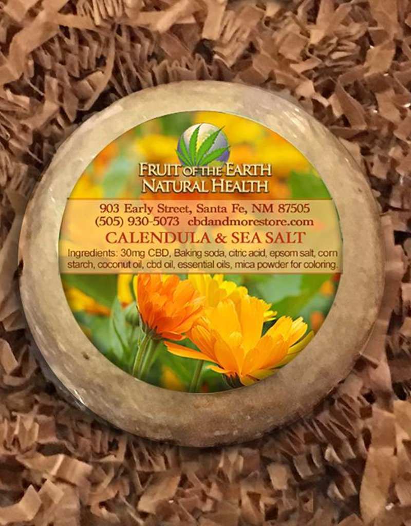 Fruit of the Earth Bath Bomb 30mg Full Spectrum CBD-  Calendula