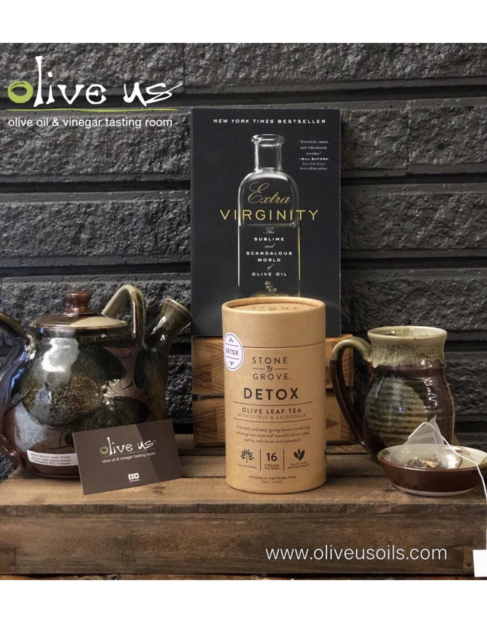 Stone & Grove Stone&Grove Tea-Detox Blend Olive Leaf Tea
