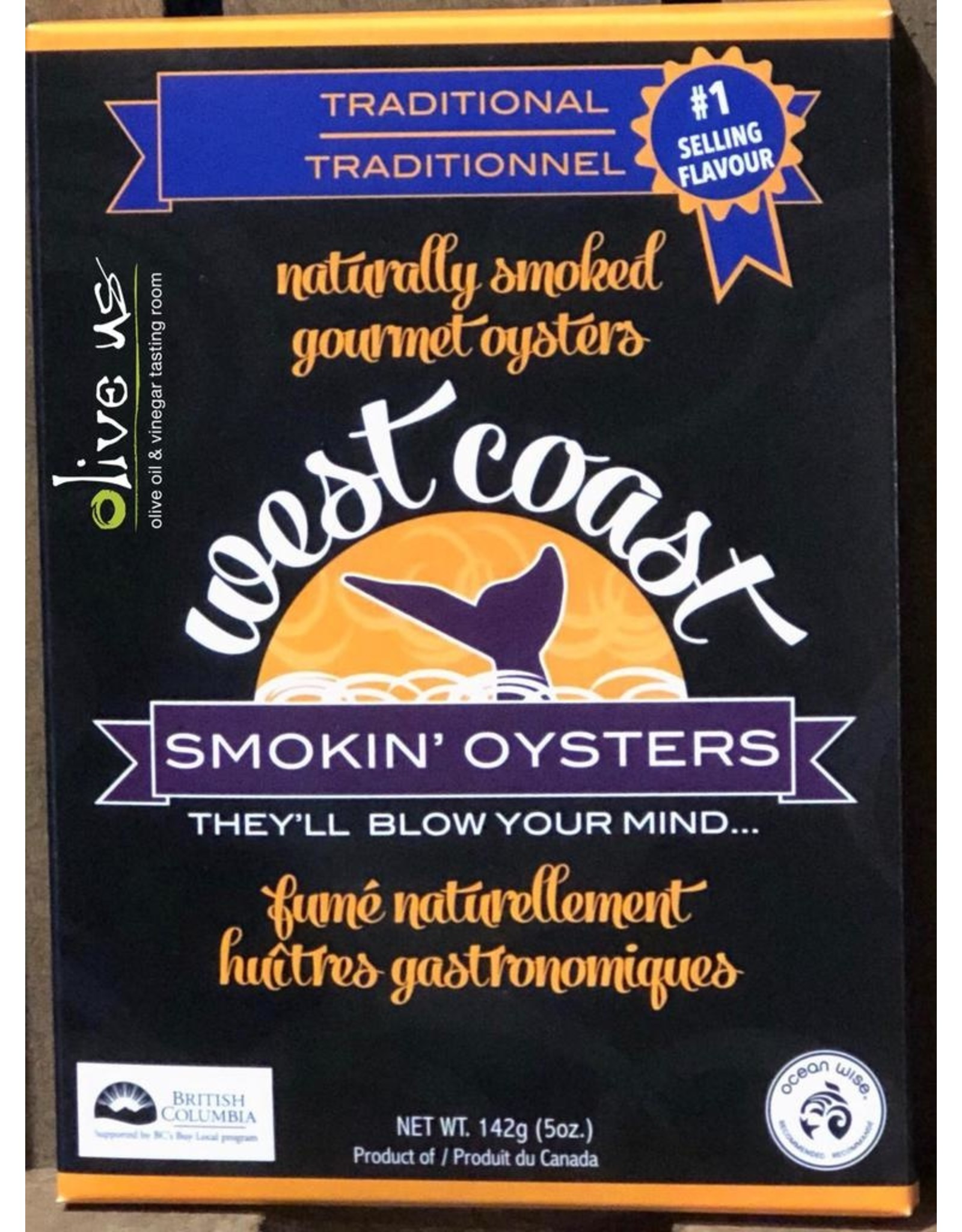West Coast Oysters West Coast Smokin Oysters: Traditional 119g