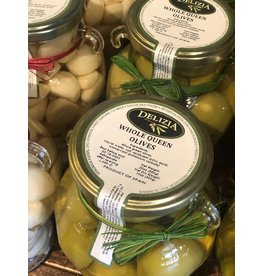 Delizia Whole Queen Olives 20 OZ.