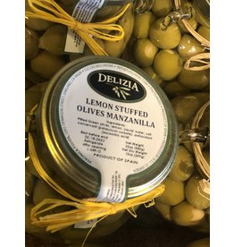 Delizia Manzanilla Olives Stuffed W/Lemon 20 OZ.