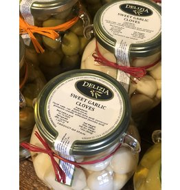 Delizia Pickled Sweet Garlic  20 OZ.