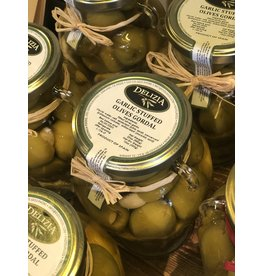Delizia Gordal Olives Stuffed W/Garlic 20 OZ.