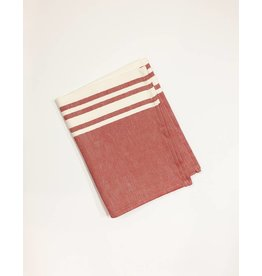 Jean Vier Jean Vier St. Jean Tea Towel in Red & White