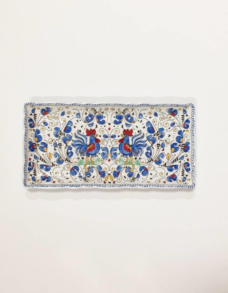 Le Cadeaux Le Cadeaux Rooster Biscuit Tray (Blue)