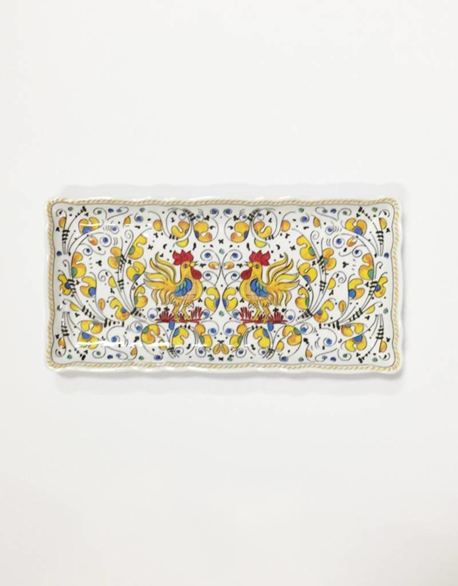 Le Cadeaux Le Cadeaux Rooster Biscuit Tray (Yellow)