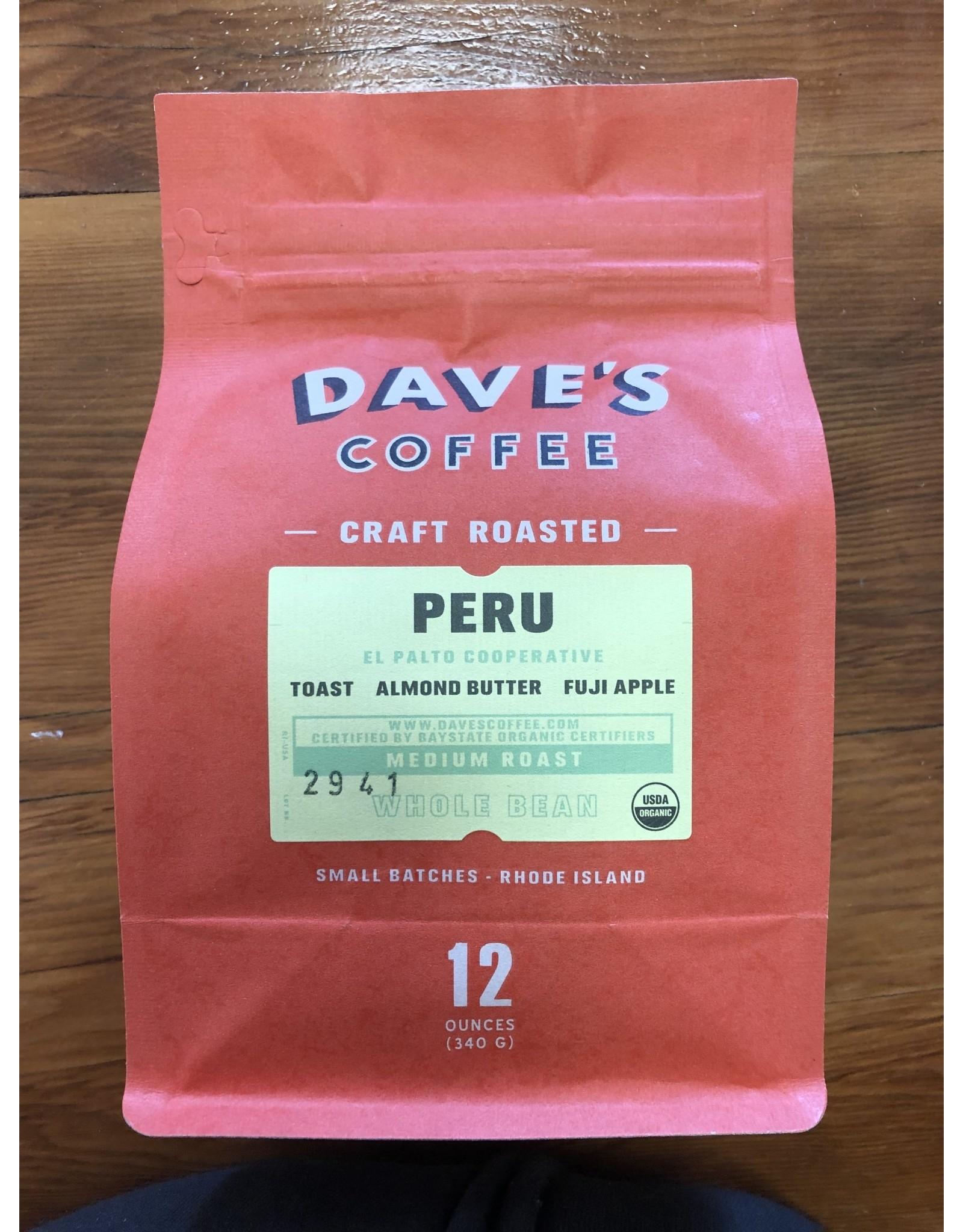 Dave's Coffee Dave's Coffee Organic Peru El Palto