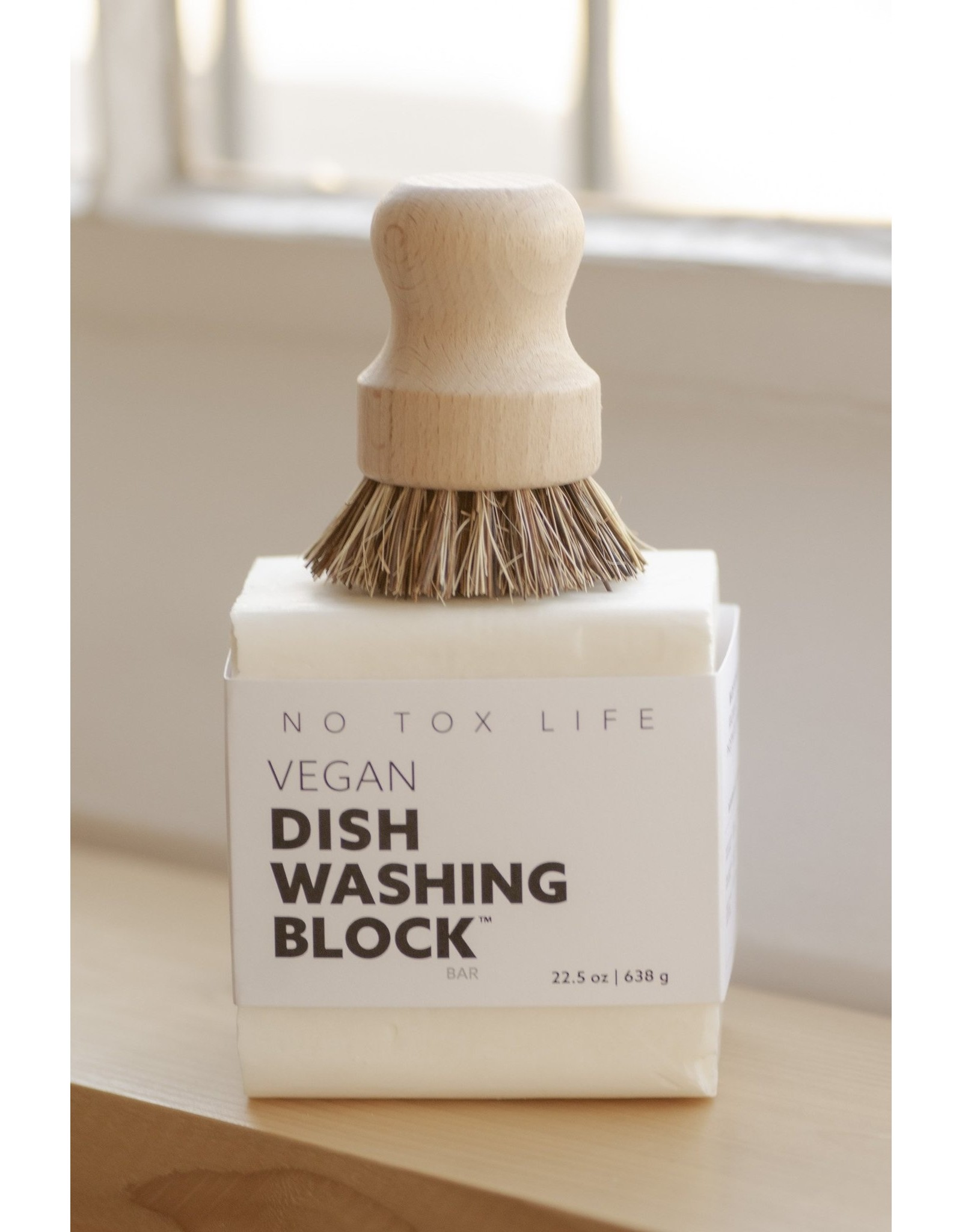 No Tox No Tox Life Dish Block® Zero Waste Dishwashing Bar HUGE