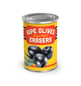 "Fred & Friends Fred Uncanny ""Olive"" Erasers and Tin"