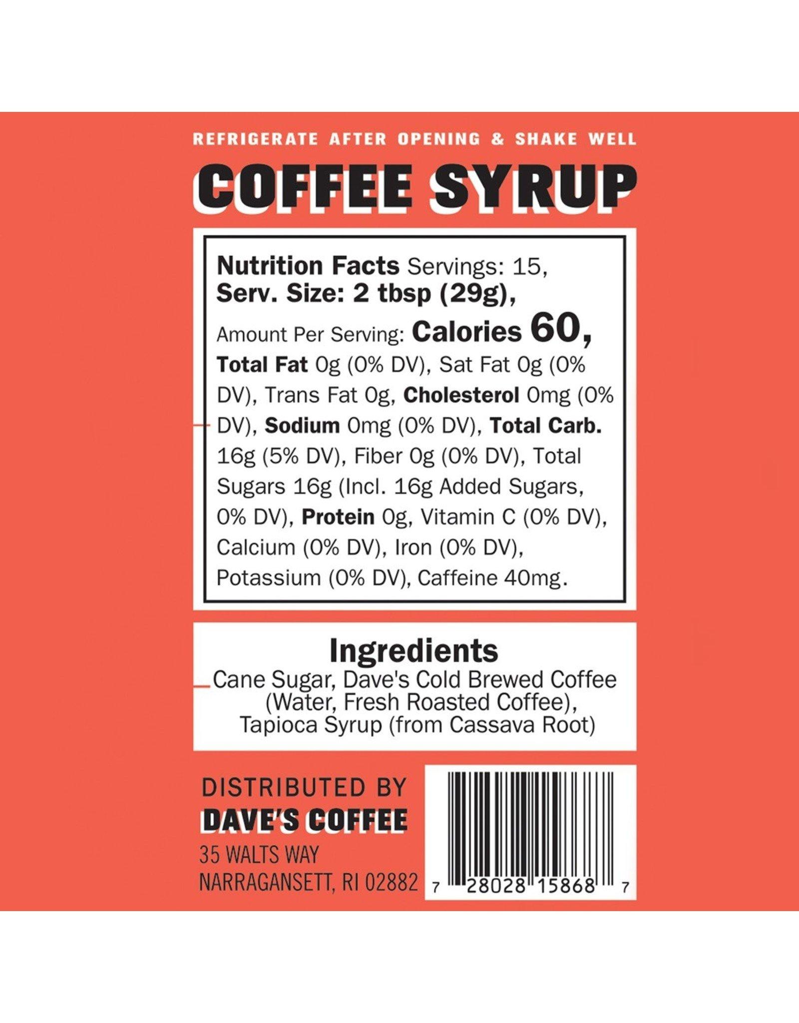 Dave's Coffee Dave's Coffee Syrup Original 8oz