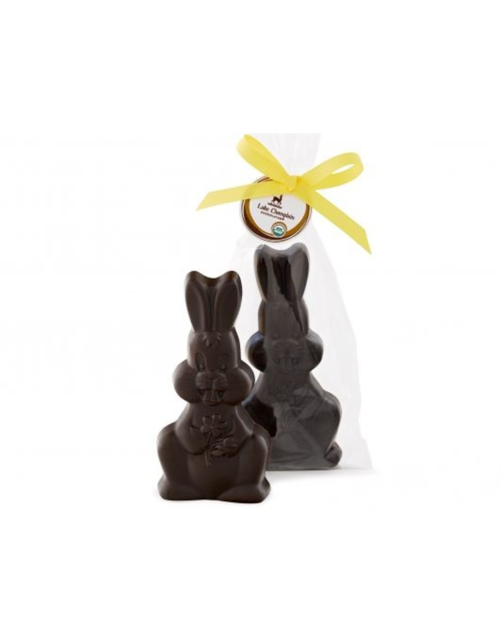 "Lake Champlain Organic Dark Chocolate Hopp'n Bunny  (5.5"")"