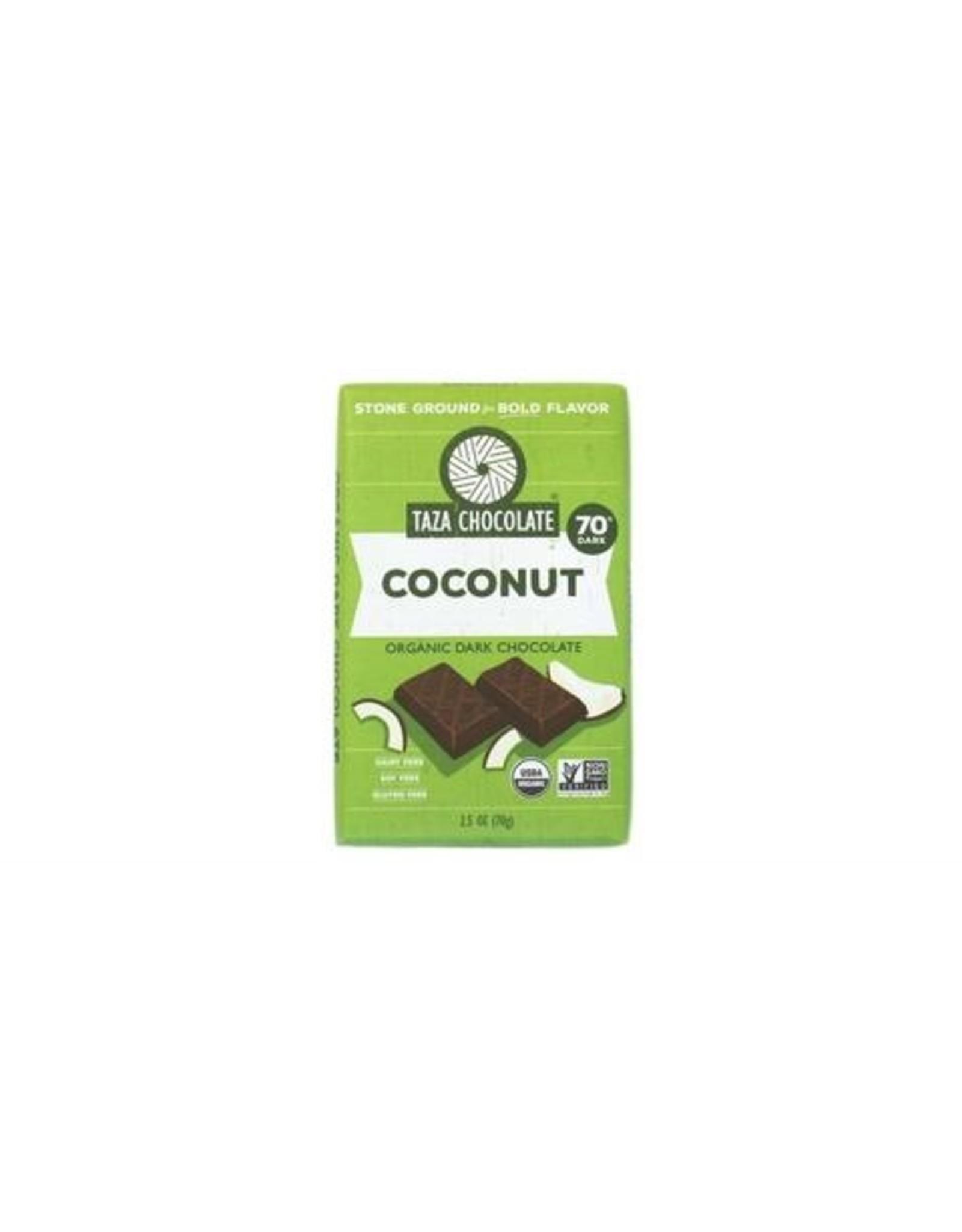 Taza Chocolate Taza Organic Wicked Dark Chocolate Bar with Coconut