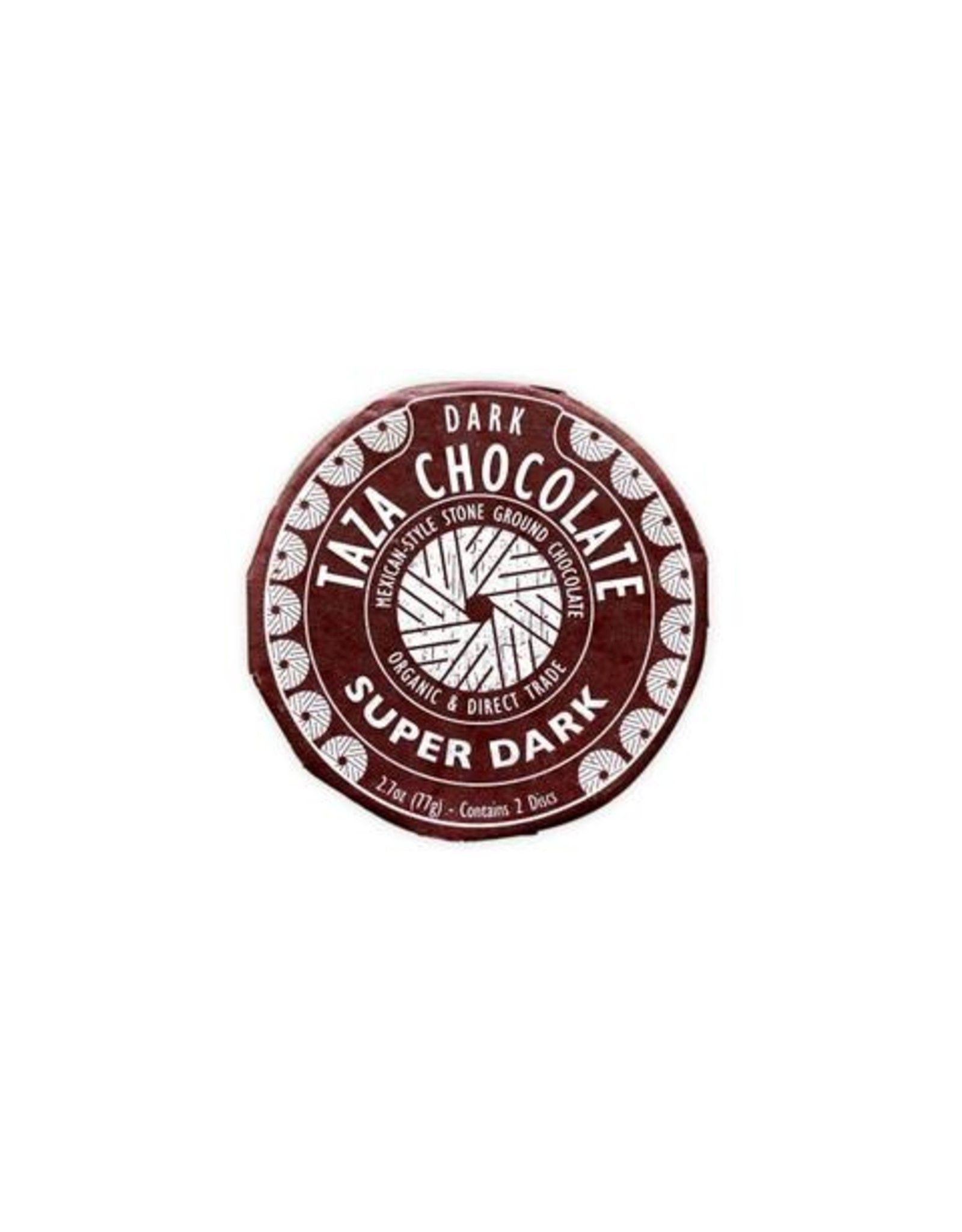 Taza Chocolate Taza Organic Super Dark Chocolate Disc