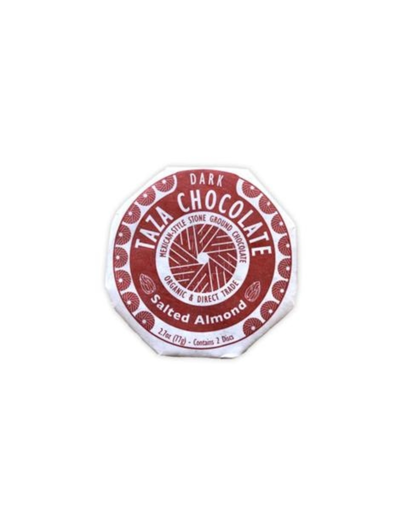Taza Chocolate Taza Organic Dark Chocolate Disc with Salted Almond)