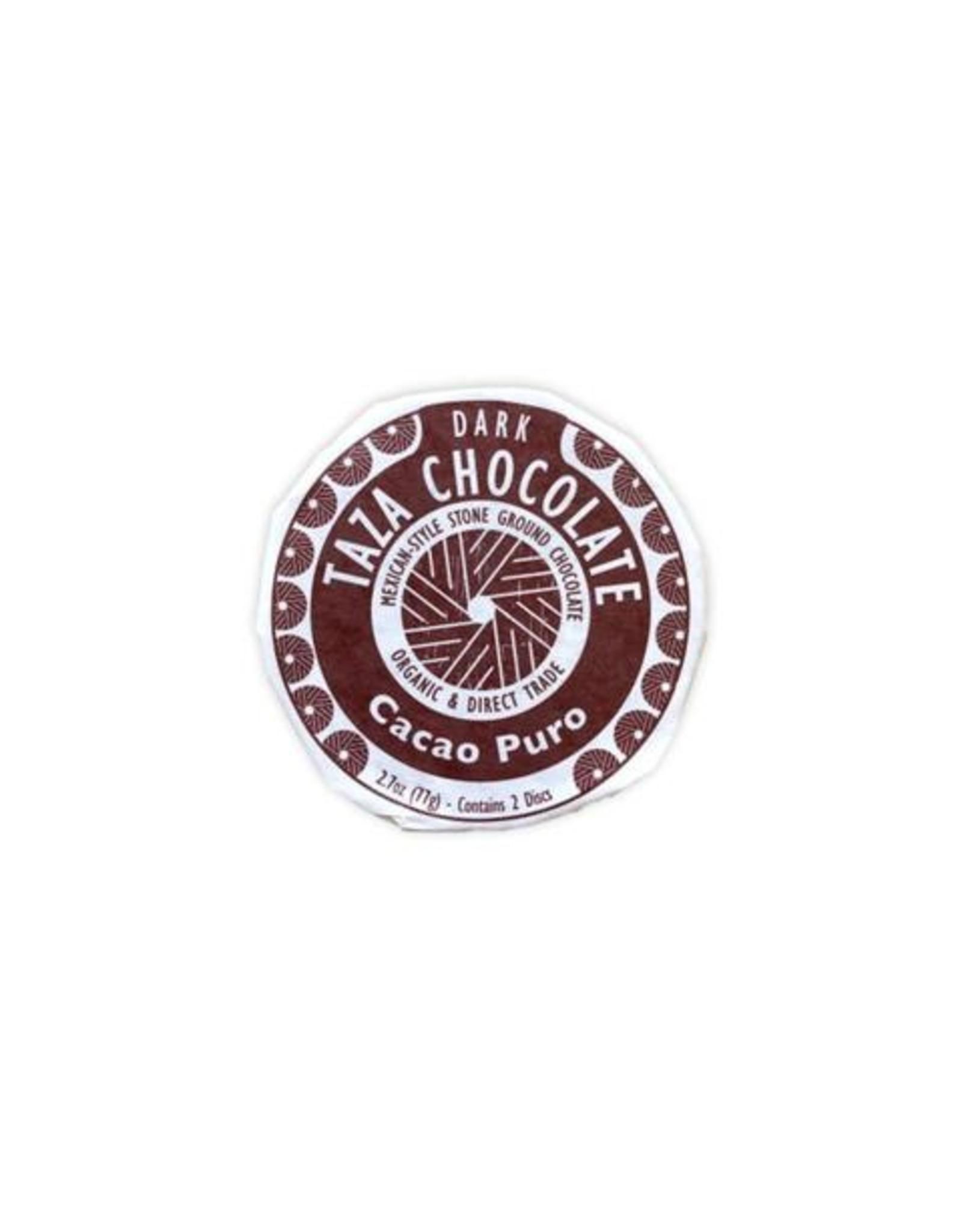 Taza Chocolate Taza Organic Dark Chocolate Disc Cacao Puro