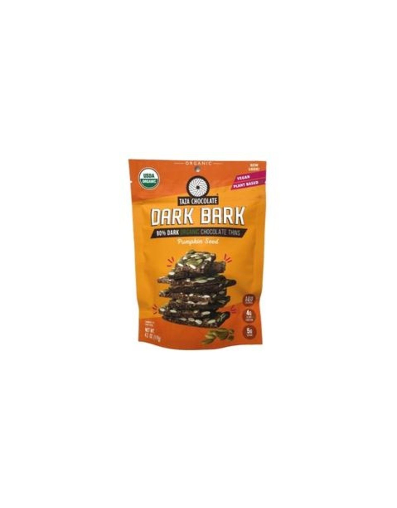 Taza Chocolate Taza Organic Dark Chocolate  Bark with Pumpkin Seeds