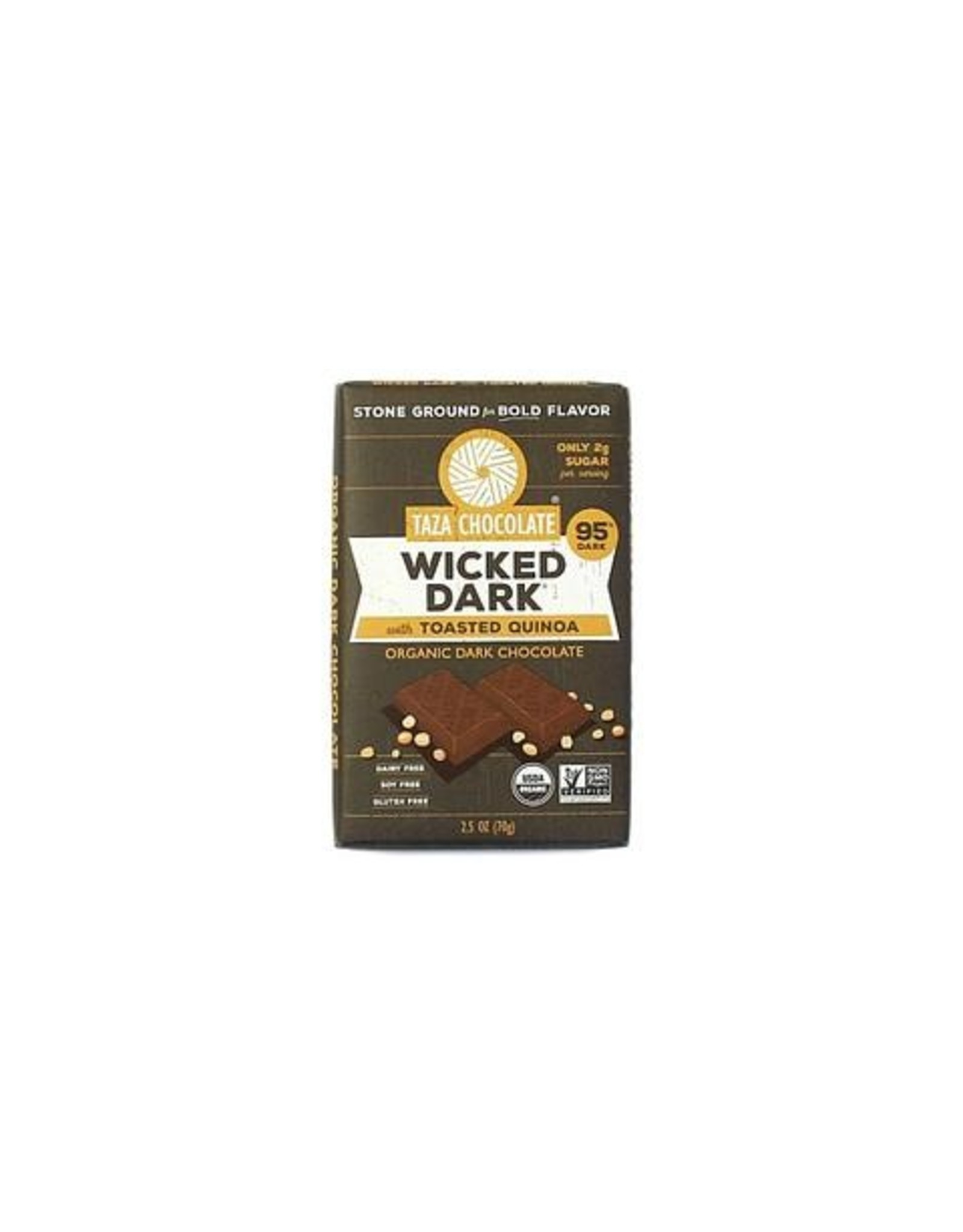 Taza Chocolate Taza Organic Wicked Dark Chocolate Bar with Quinoa