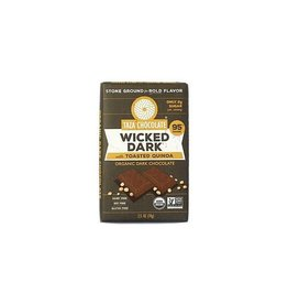 Taza Chocolate Taza Organic Wicked 95% Dark Chocolate Bar with Toasted Quinoa