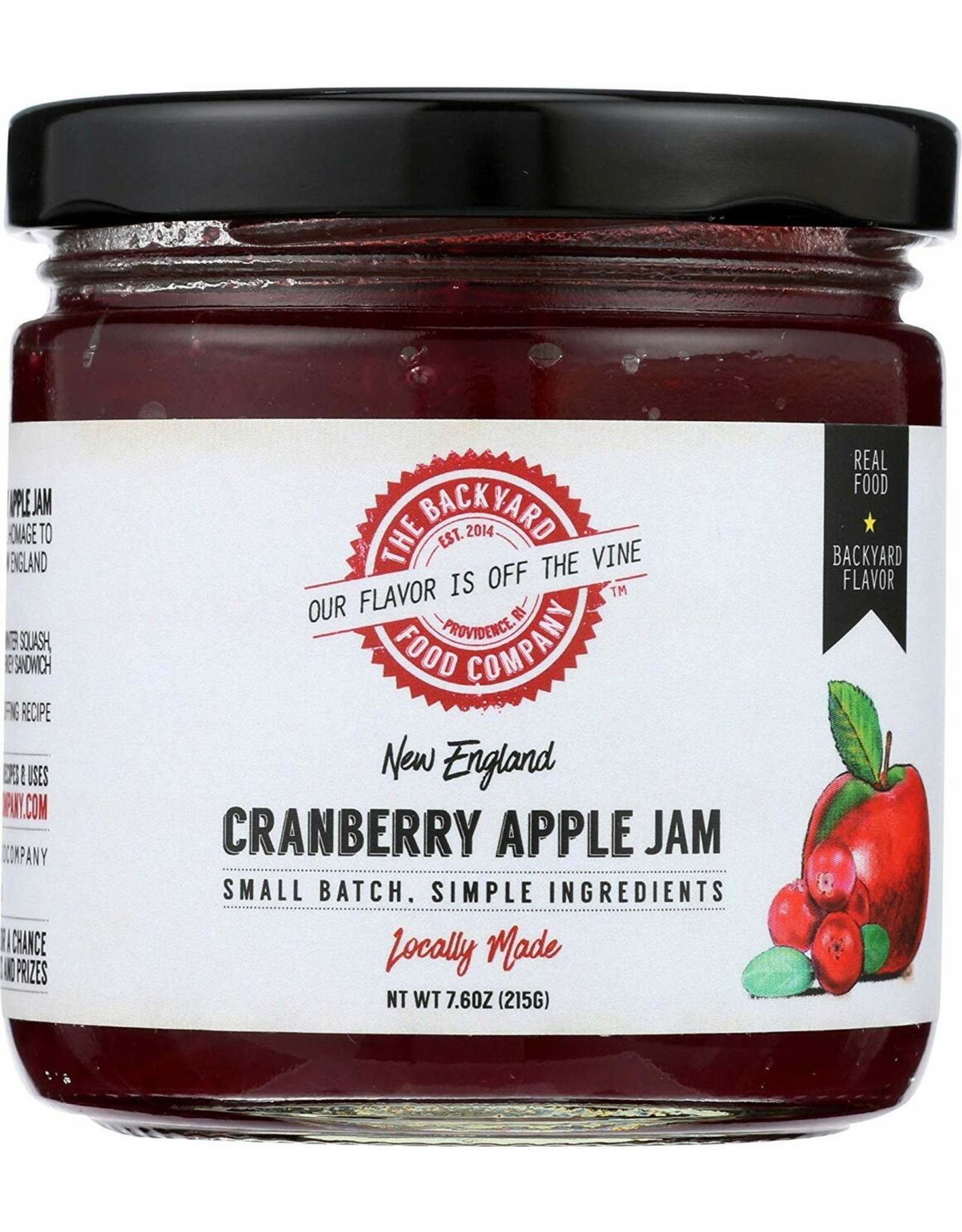 The Backyard Food Company RI Backyard Food Co. Cranberry Apple Jam