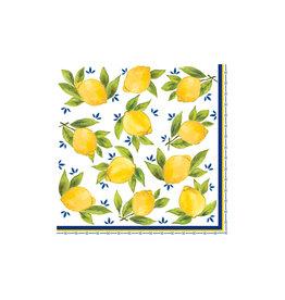 """Le Cadeaux Le Cadeaux  Dinner Napkins 7"""" (Palermo/Lemon)"""